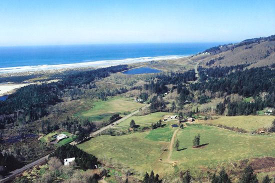 C&M Stables - Florence, Oregon Coast aerial view