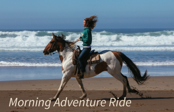 Horseback Morning Adventure Rides on Oregon Beaches