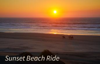 Horseback Sunset Beach Riding on the Oregon Coast
